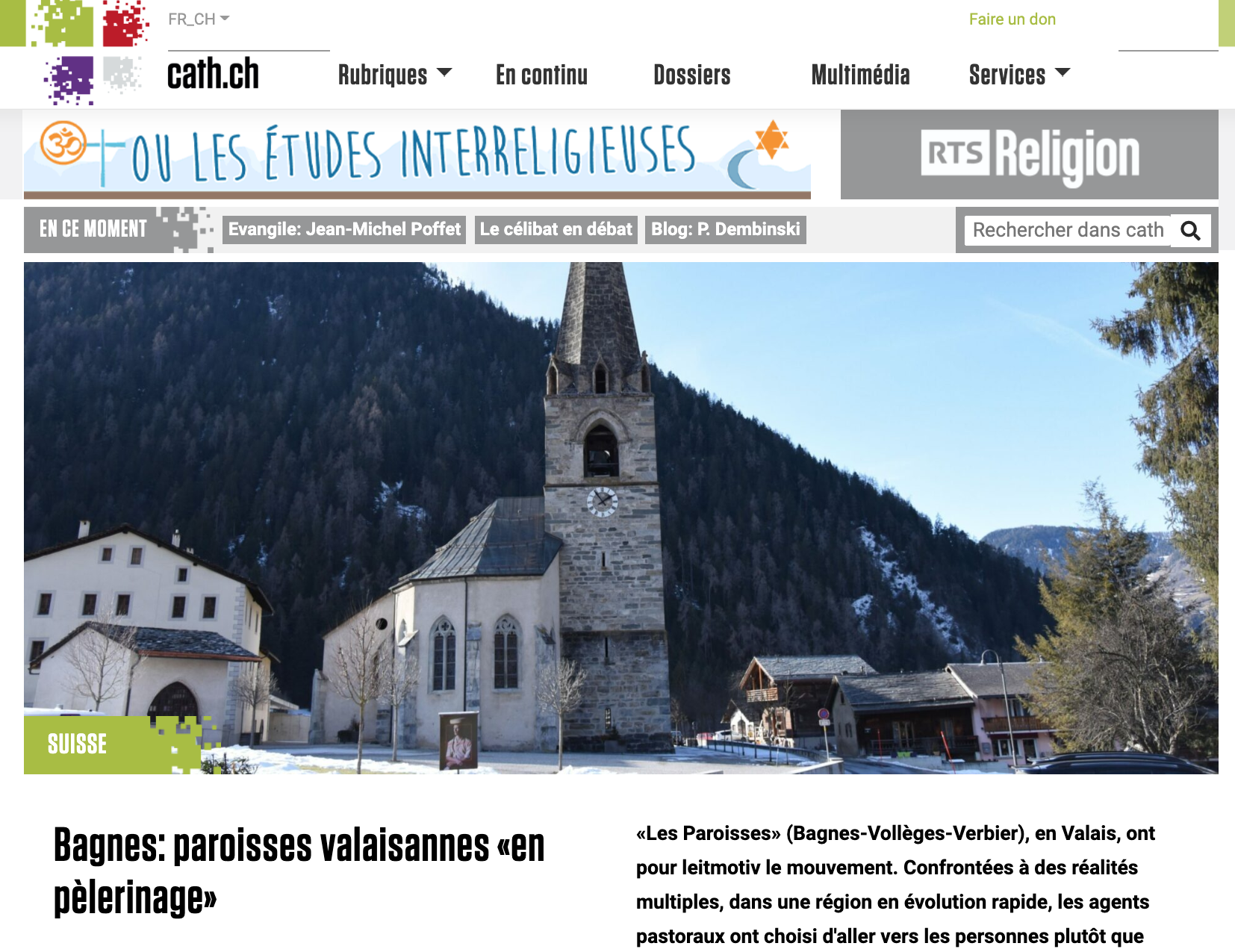 article cath_ch Bagnes